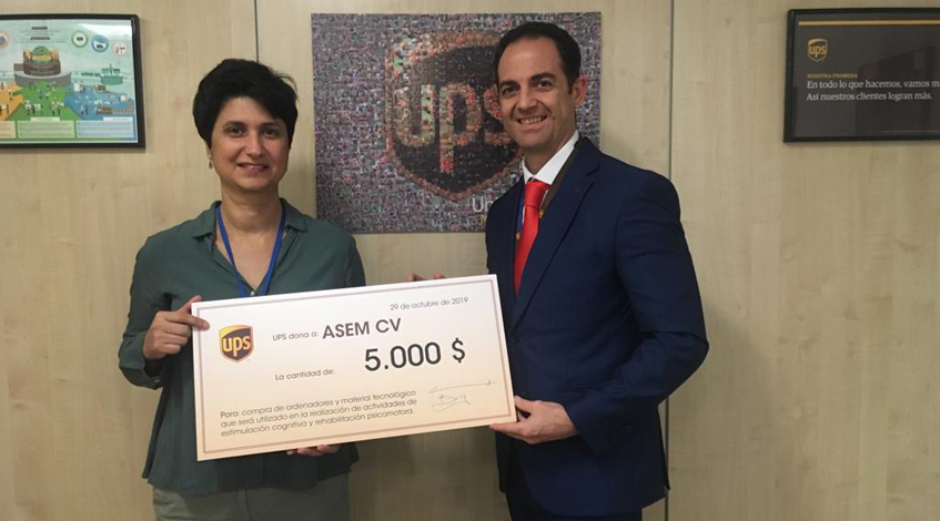 Donación de la Fundación UPS a Asem CV